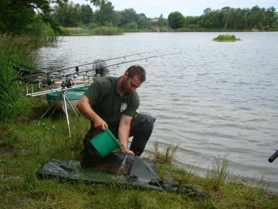 Podstawa to częste polewanie ryby wodą