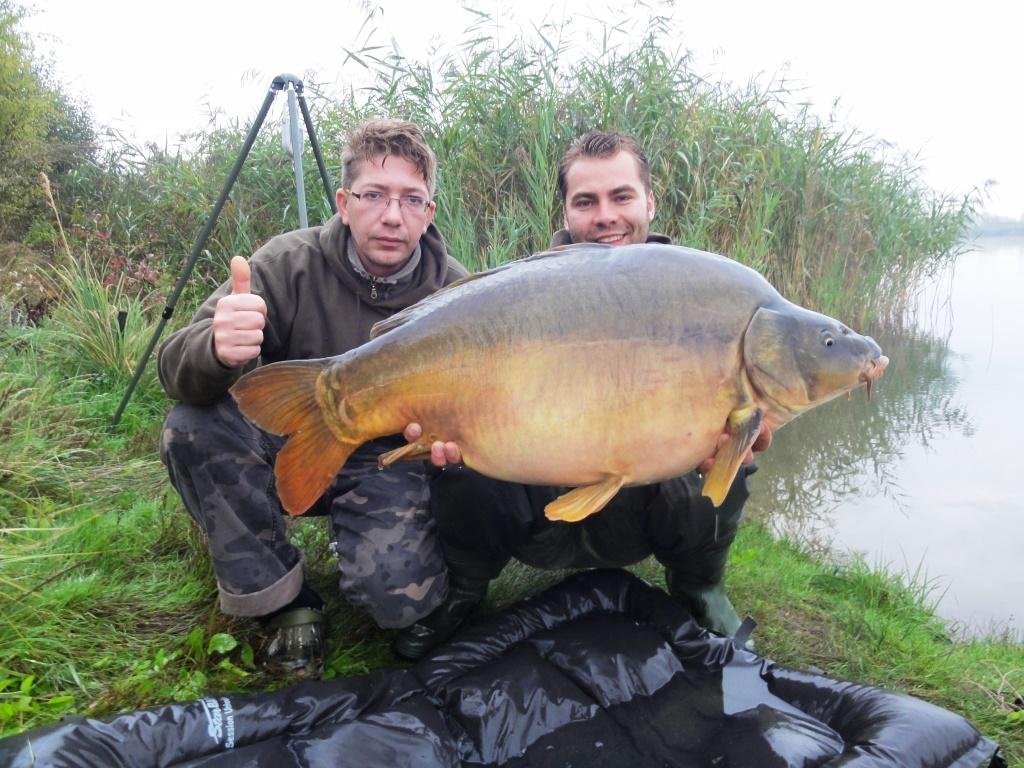 16,9 kg szczęścia, bez pomocy Mariusza nie byłbym w stanie podebrać tak wspaniałą rybę